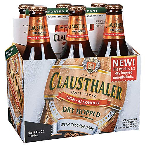 Golden Beer - Clausthaler Product of Germany - Dry Hopped - Non Alcoholic Beer - 6 Pack - 12 Fl. Oz.