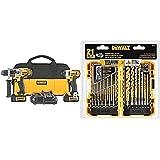 DEWALT 20V MAX Impact Driver and Hammer Drill Combo Kit (DCK290L2) with DEWALT DW1361 Titanium Pilot Point Drill Bit Set…