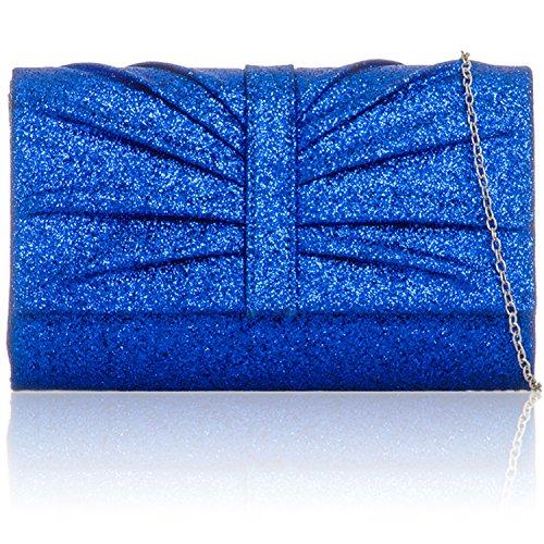 À London Femme D'embrayage Bleu Sacs Enterrement Paillettes Mariée Sac Main Soirée Pour Medium Xardi PpwRfqp