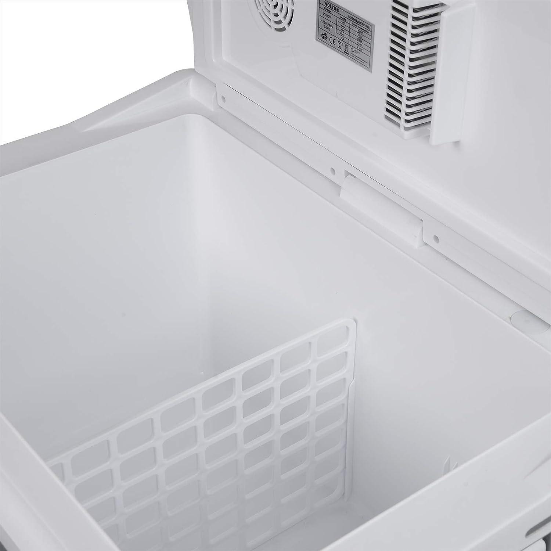 50L Isolierbox Erw/ärmen Thermo-Elektrische Mini-K/ühlschrank grau warmhalten oder k/ühlen WOLTU K/ühlbox 12V/&220V f/ür Auto und Camping