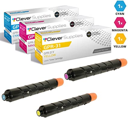 2pk Toner for Canon GPR-31 Black Cartridge GPR31 C5030 C5035 C5235 C5240
