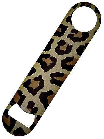 Leopard Print Bar Blade Bottle Opener 18 x 4cm