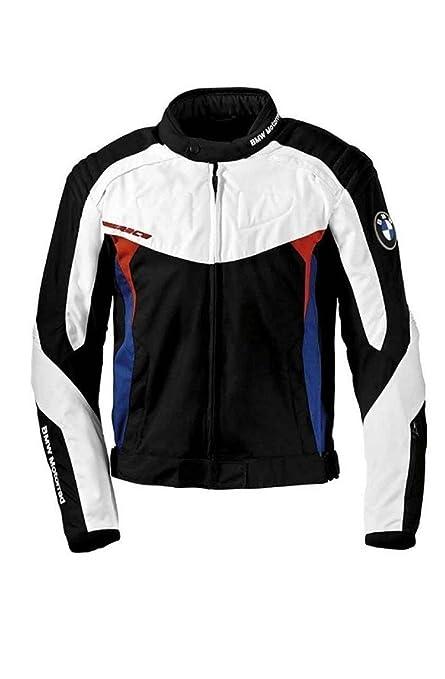 Bmw Genuine Motorrad Motorcycle Race Jacket Black White Blue Red Size Xl