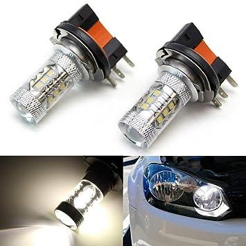 H15 Xenon White DRL LEDs H15 Xenon White Cree LED Daytime Running Light Bulbs