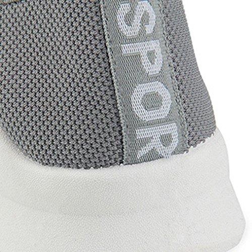 Sneakers Femme Tennis Large à Enfiler Chaussures Plates Baskets Compensées Overdose Automne Hiver Casual Sportwear Gris eigQL