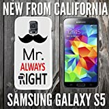 Mr Always Right Custom made Case/Cover/skin FOR Samsung Galaxy S5 -White - Rubber Case ( Ship From CA)