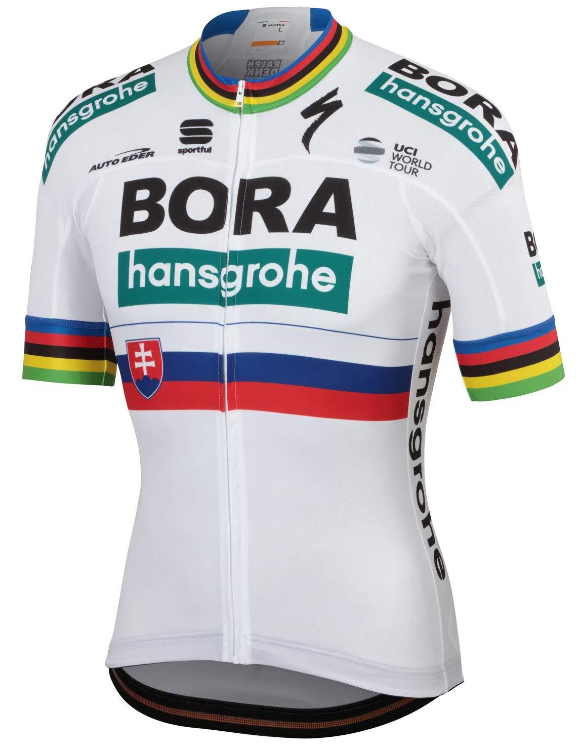 自転車ウェア 2019 Bora Hansgrohe XLサイズ 半袖ジャージ サガン スロバキア チャンピオン Bodyfit Team