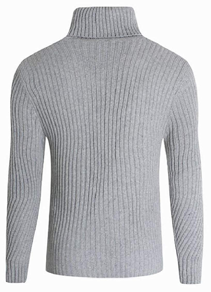 Yayu Mens Cable Knitted Slim Fit Pullover Sweater Casual Crewneck Long Sleeve Sweaters