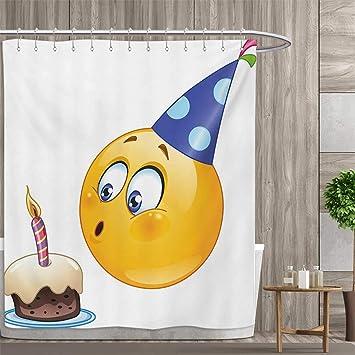 Smallfly Kinder Geburtstag Gemustert Duschvorhang Colorful