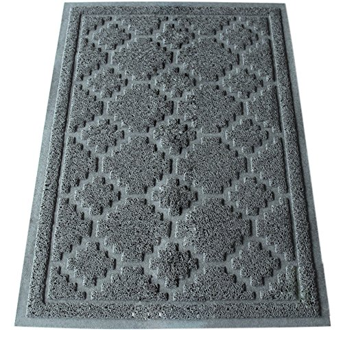 Cat Litter Mat Extra Large Anti Tracking from Box Grey 35