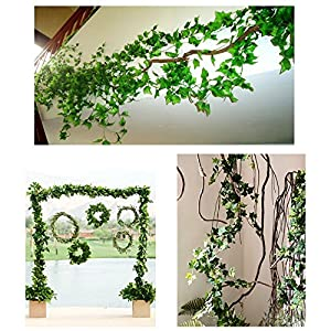 Echodo 82 Ft Artificial Ivy Leaf Garland Fake Hanging Plants Grape Silk Ivy Vine Garlands Wall Crafts Christmas Party Decoration 7