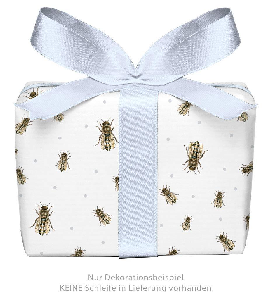 50 x 70 cm 5er Set 5 B/ögen Geschenkpapier BIENE WEI/ß BRAUN BLAU PUNKTE /• F/ür Imker und Honig Liebhaber Geburtstag Taufe Ostern Hochzeit Weihnachten /• Format
