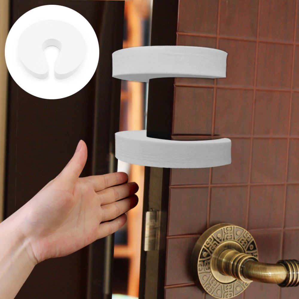 (8 Pack)Finger Pinch Guard Baby Proofing Doors Made Easy with Soft Yet Durable Foam Door Stopper. Prevents Finger Pinch Injuries, Slamming Doors, and Child or Pet from Getting Locked in Room AMACHAHMG