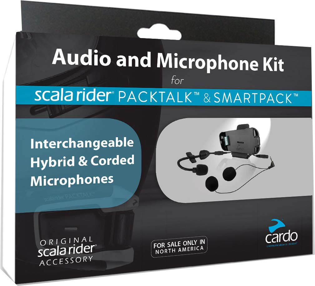 Cardo Systems PackTalk Audio Kit Bluetooth 3.0 / IP67 Certified with Up to 10 Hours Talk Time/ 1 Week Standby SRAK0033