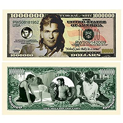 American Art Classics Pack of 5 - Patrick Swayze Million Dollar Bill - Best Gift for Fans of Patrick Swayze: Toys & Games