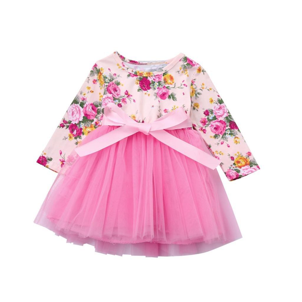 Kleinkinder Baby Mädchen Kleid Longra Blumenspitze Prinzessin Tutu ...