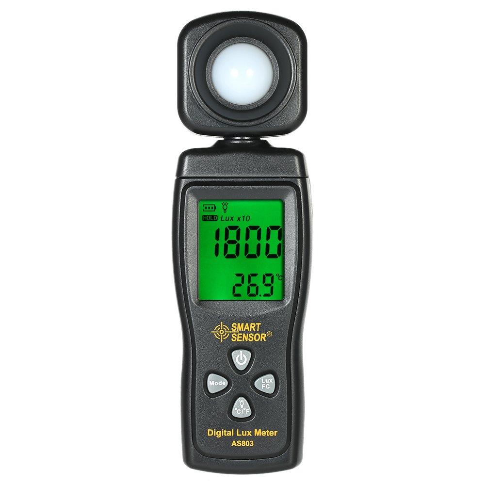 Walmeck SMART SENSOR Handheld Illuminometer Luminometer Mini Digital Lux Meter LCD Display