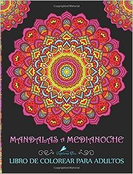 Mandalas A Medianoche: Libro De Colorear Para Adultos por Papeterie Bleu epub