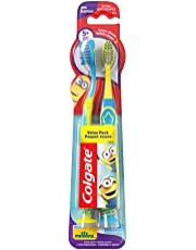 Colgate Kids Minions Toothbrush Value Pack, Extra Soft, 2 Count