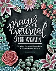 Prayer Journal for Women: 52 Week Scripture, Devotional & Guided Prayer Jou