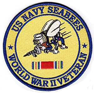 Navy Seabees WWII Veteran Hat Patch