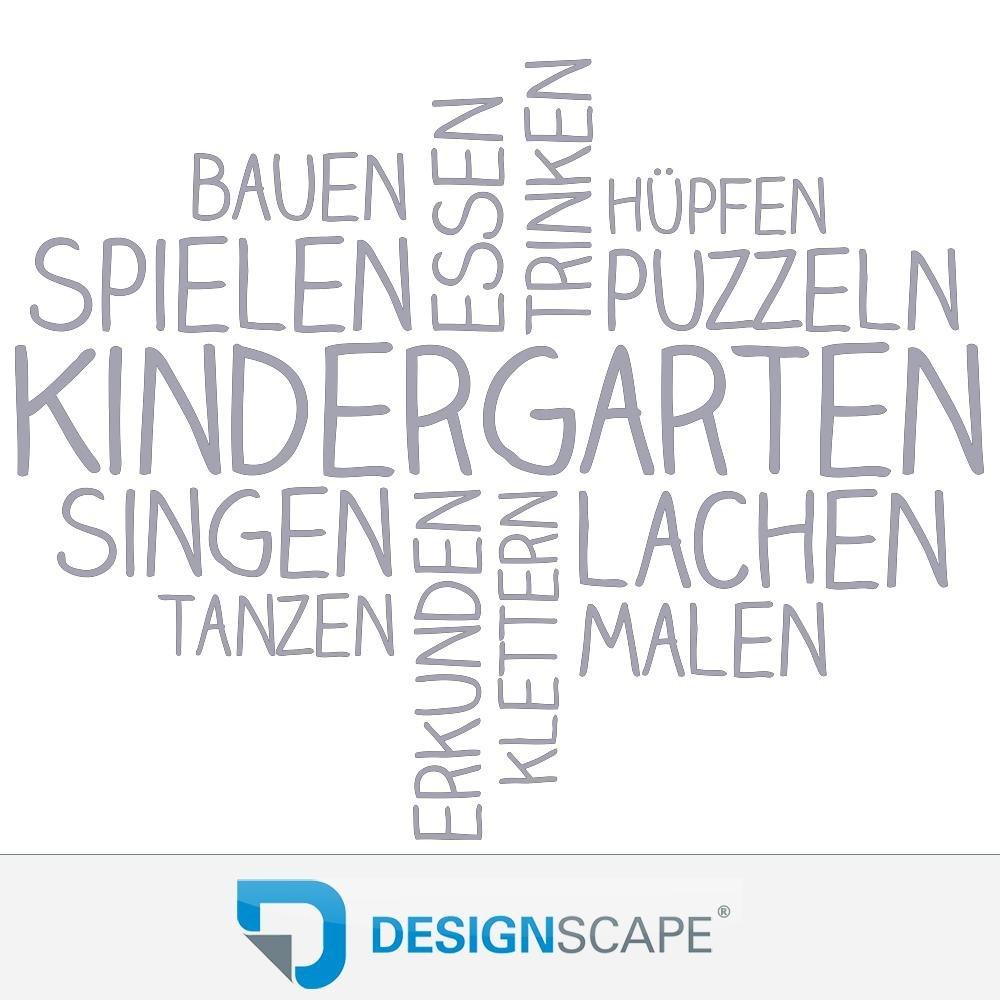 DESIGNSCAPE® Wandtattoo Wortwolke Kindergarten   Kindergarten Wanddekoration 110 x x x 89 cm (Breite x Höhe) sandgrau DW808180-M-F101 B075JHM6HZ Wandtattoos & Wandbilder 2f94ee
