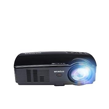 Proyector WiMiUS T7 3600 Lumens Mini Proyector LED Portátil Soporta 1080P HDMI USB VGA AV Multimedia Home Cinema LCD Video Beamer para TV, PC Laptop ...