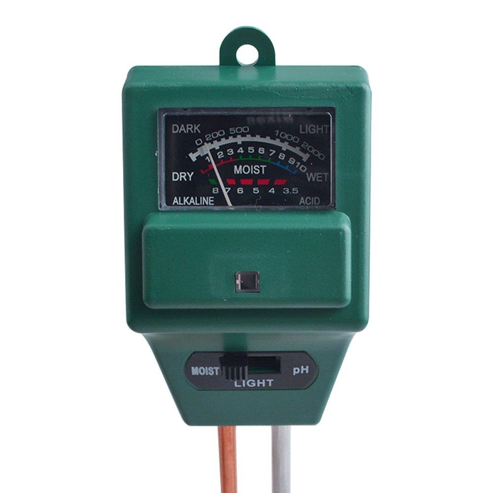 Digitalexpress Soil Meter, 3 in 1 Soil Moisture Sensor Meter Plant Light pH Tester Gardening Tools for Home, Garden, Lawn, Farm, Indoor Outdoor Use (No Battery Needed) A002