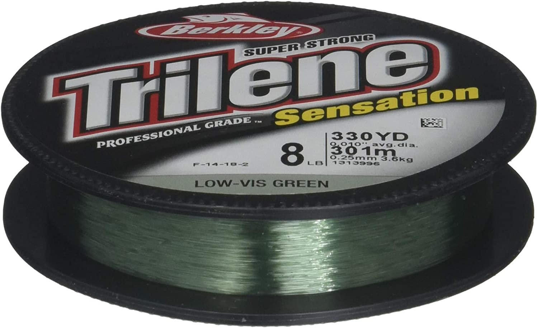 Berkley Trilene Sensation Monofilament Fishing Line, Low-Vis Green, 8lb - 330yd : General Sporting Equipment : Sports & Outdoors