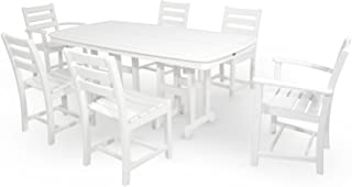 product image for Trex Outdoor Furniture TXS118-1-CW Monterey Bay 7-Piece Dining Set, Classic White
