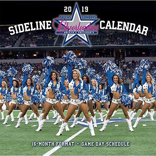 Turner Licensing Dallas Cowboys Cheerleaders 2019 12X12 16-Month Calendar (19998011961) - Dallas Cowboys Cheerleaders Wall