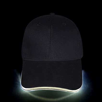 32673e3533b LED Hat - Ultra Bright Lights Unisex Baseball Cap Easily Adjustable One  Size Fits