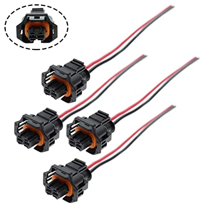 amazon com motoall 4pcs fuel injector plug connector wire harness
