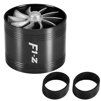 Duokon Ahorrador de combustible Turbo 64mm del solo cargador estupendo de la turbina de la fan de la admisión de aire del coche(Negro)
