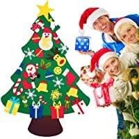 TERSELY DIY Felt Christmas Tree Set with 30 PCS Ornaments for Kids, Xmas Gifts, New Year Door Wall Hanging Christmas…