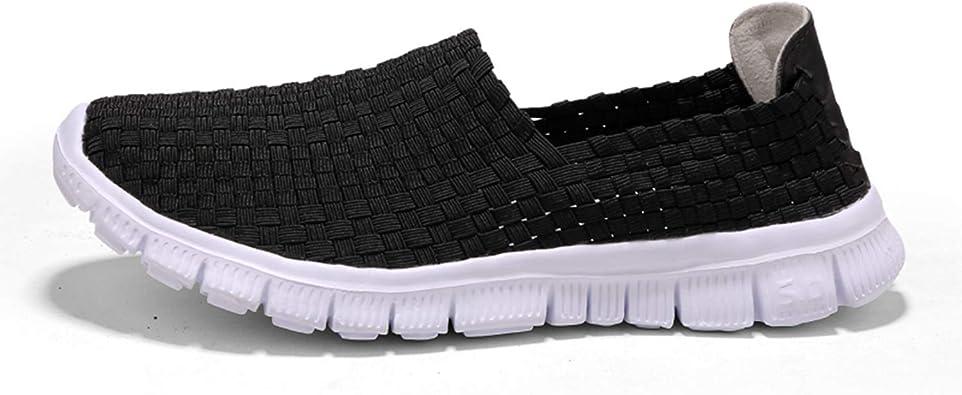 Zapatos de Mujer Gimnasia Trenzada Zapatillas de Deporte Hechas a ...