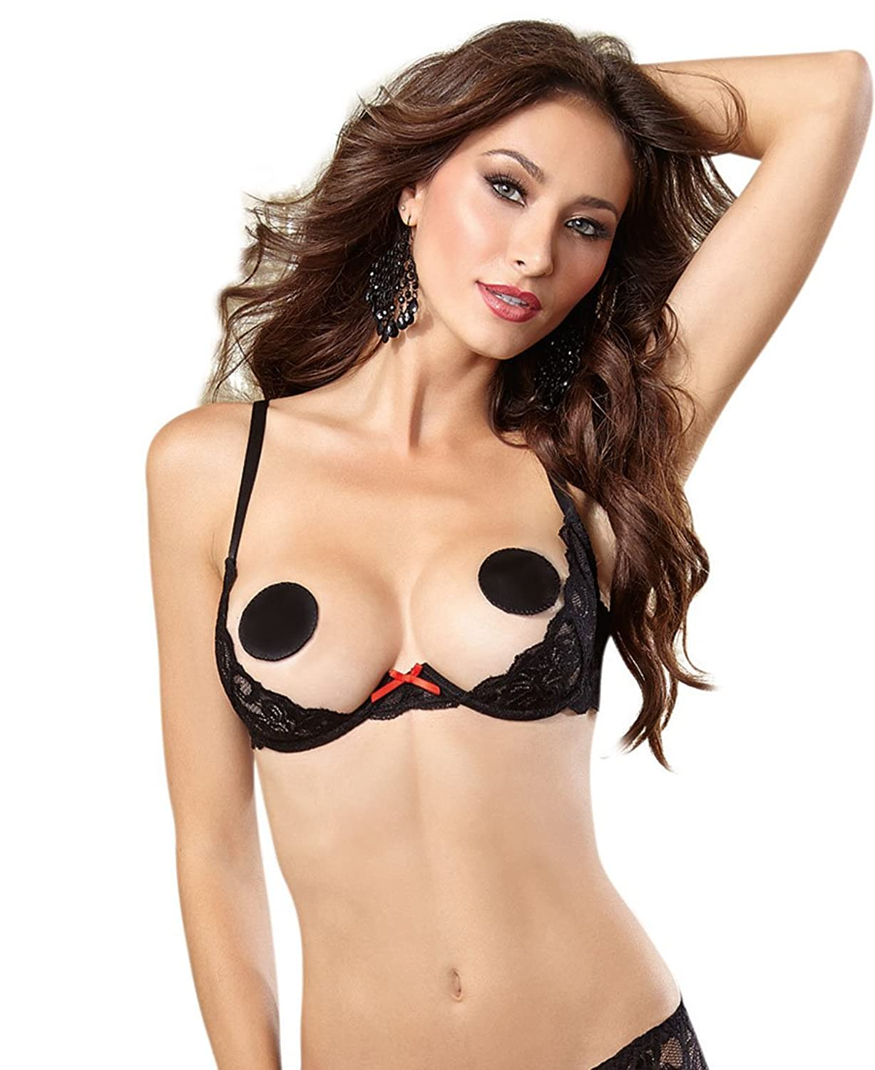 82dc0176673d69 Amazon.com: Dreamgirl 9763 Women's Underwire Lace Open Cup Shelf Bra:  Clothing
