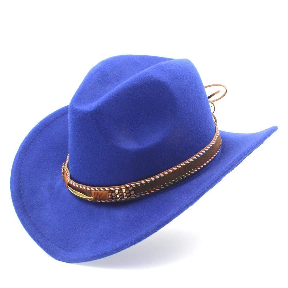 In the Dream Warme Mütze im Freien Mode Frauen Männer Western Cowboy-Hut mit Roll Up Brim Fedora Sombrero Hombre Caps