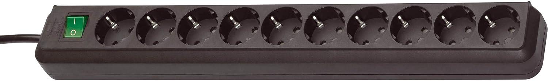 Regleta de 5 enchufes con Interruptor Color Negro Longitud de Cable Aprox Potencia de conexi/ón 3500 W Enchufe Tipo F: 2 Pines 1,5 m tensi/ón 230 V