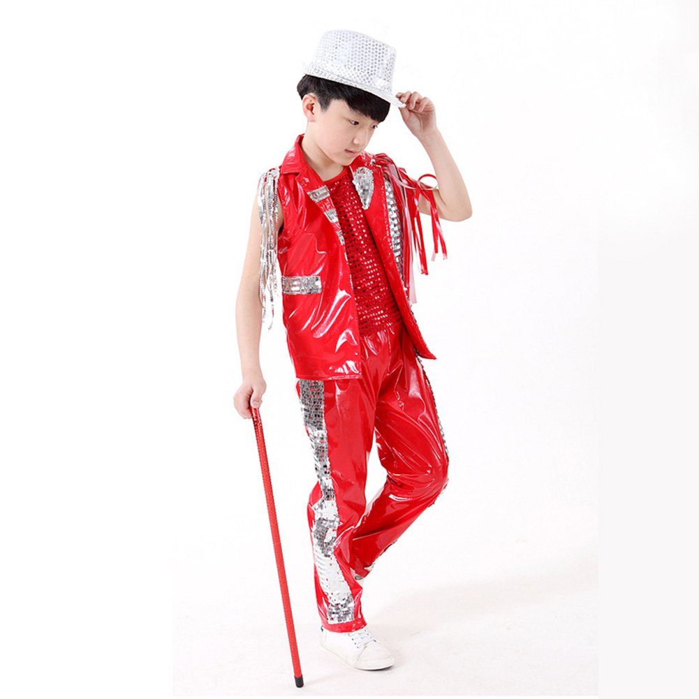 f041aec2d Amazon.com  DREAMOWL Kids Sequin Jacket School Rapper Costumes Jazz ...