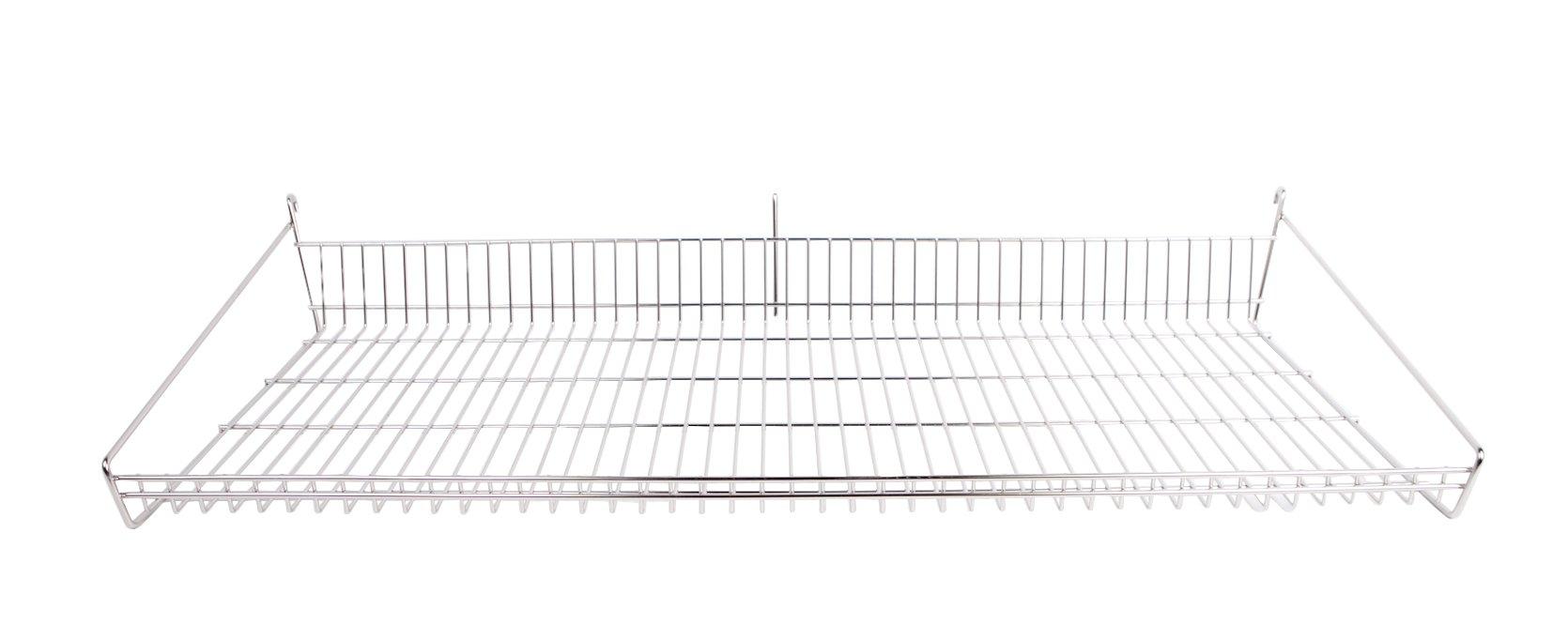 GOLD BOND GSS1848S Stainless Steel 18''X48'' Slanted Shelf