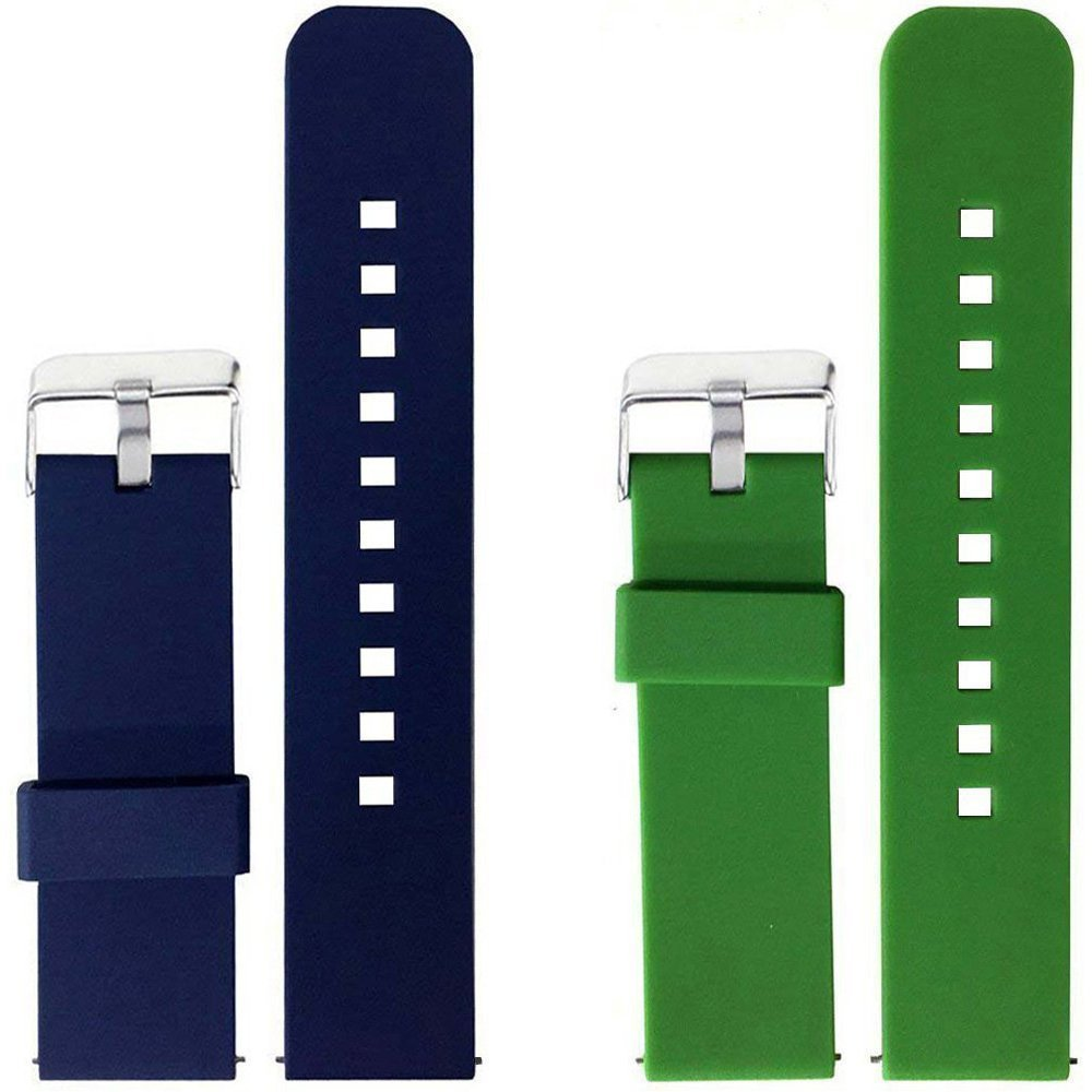 Turnwin for Amazfit Pace Straps Wristbands, 2pcs Replacement Silicone Bands for Amazfit Pace Only (Navy+Green)