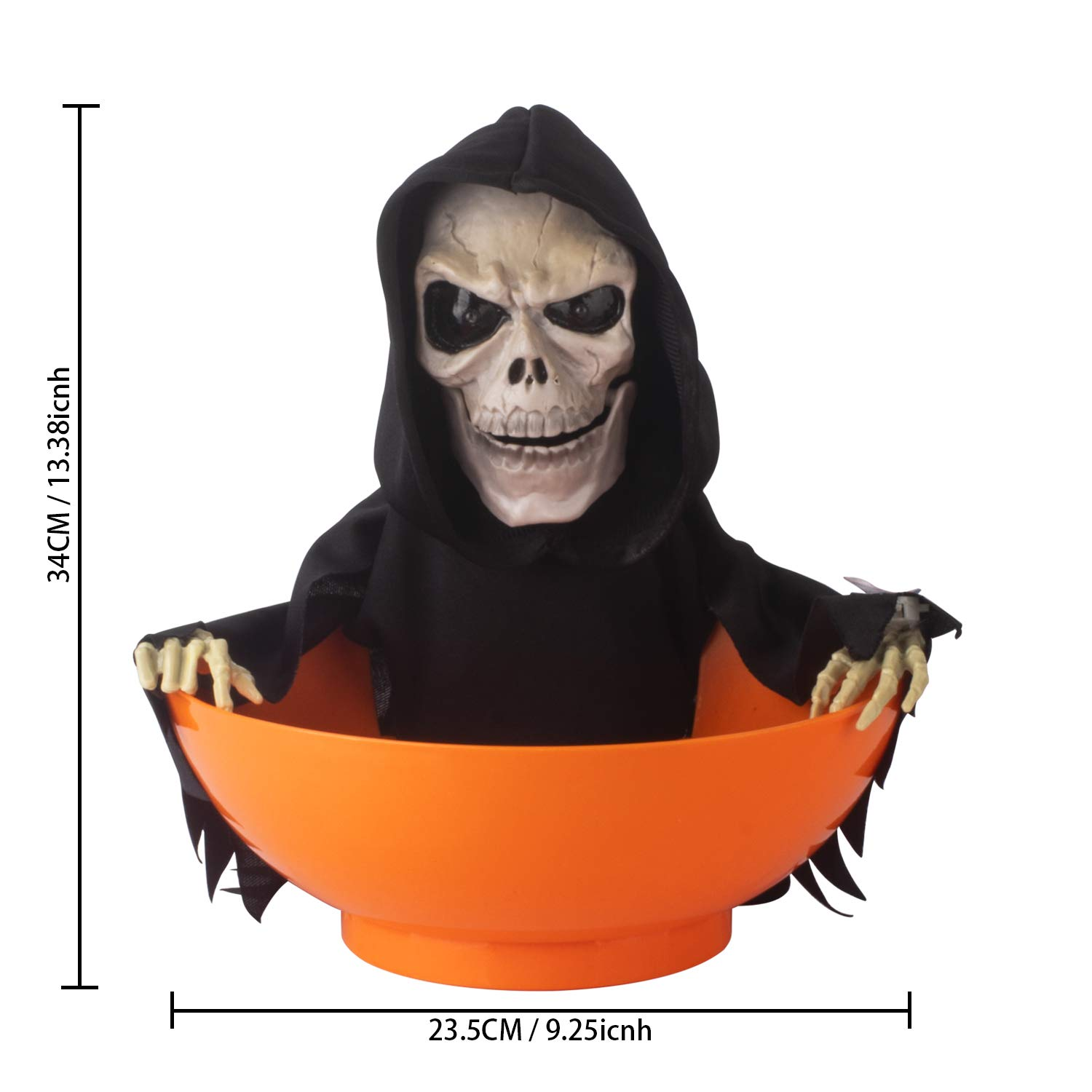 Itart Halloween Candy Bowl Dish Grim Reaper Animated Candy Bowls Halloween Decorations For Treat Or Trick Candy Holder Container Amazon In Toys Games
