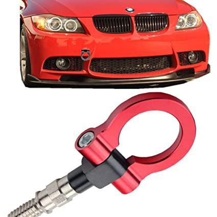 JGR Track Racing Style Tow Hook Towing Eye CNC Aluminum Screw On Front Rear Bumper For