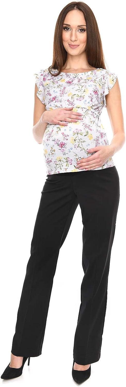 Elegante Schwangerschaftshose UmstandsHose mit Bauchband 1011A Mija
