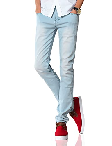 Demon&Hunter 808 YOUTH Series Men's Skinny Slim Jeans Men Jeans