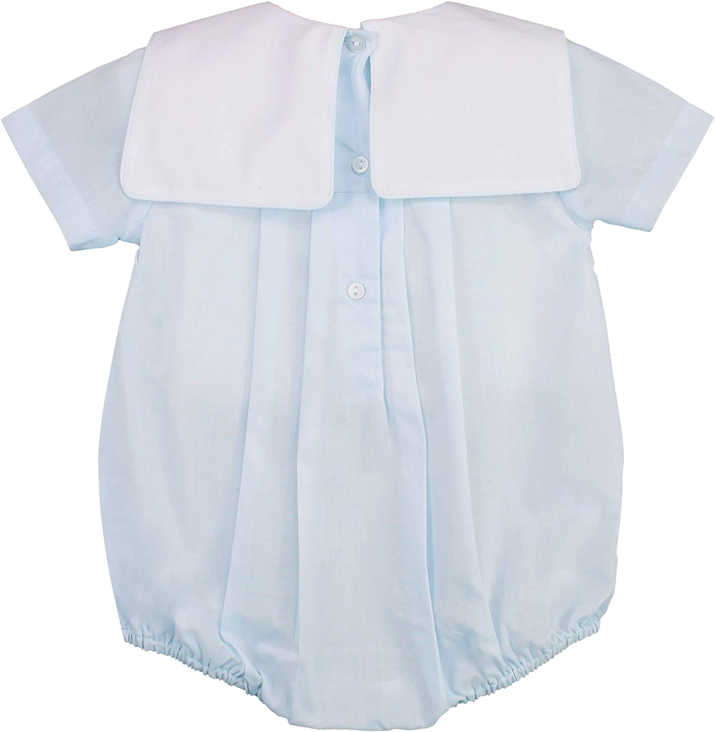 Details about  /Petit Ami Romper /& Hat 5723 Sq Collar w Embroidery Train Blue Wht 3 Month #10233