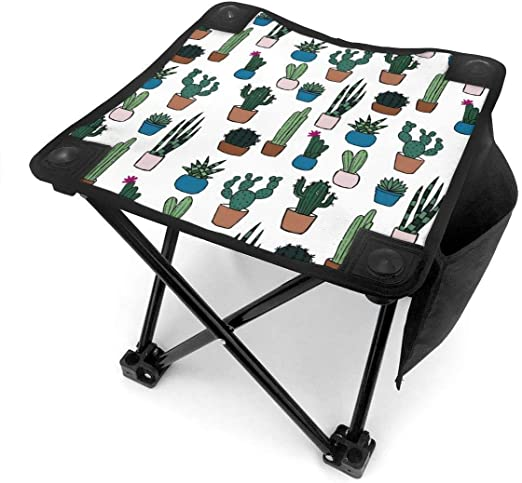 Taburete de camping Cute Potted Plants Cactus Small Camping Stool ...