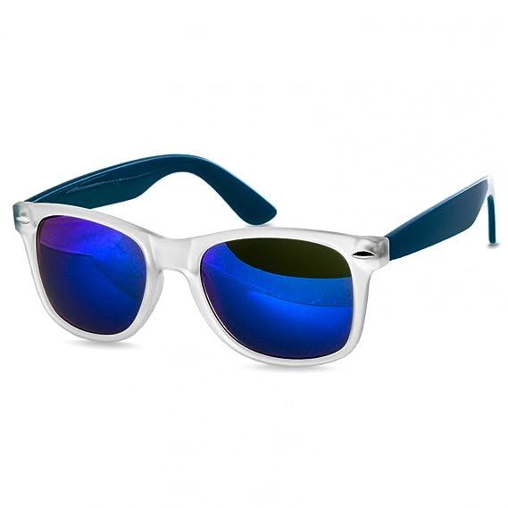 4ba97e19d3 Caspar SG031 Gafas de Sol Unisex de Estilo Retro - En Varios Colores  Modernos, Color:azul mate transparente/azul de espejo: Amazon.es: Ropa y  accesorios