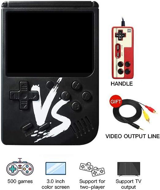 omufipw Retro FC Consola de Videojuegos de Mano 500 Juegos clásicos TV Reproductor de vídeo para niños Adultos: Amazon.es: Jardín